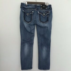 Miss Me Crop Blue Denim Jeans